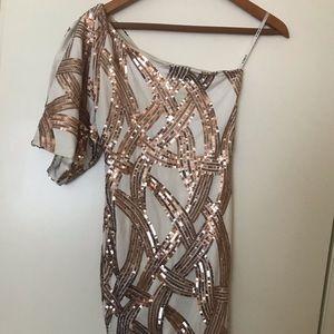 Beautiful Copper Sequins Dress